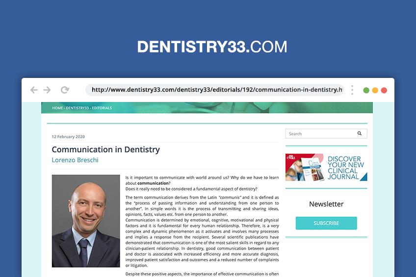 La comunicazione in odontoiatria [Rassegna stampa]